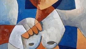 """Ilustración: """"Mujer azul"""", óleo sobre lienzo de Alfredo Rosales"""