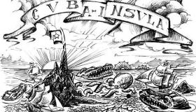 De la serie Geográficas, dibujo de Amilkar Feria